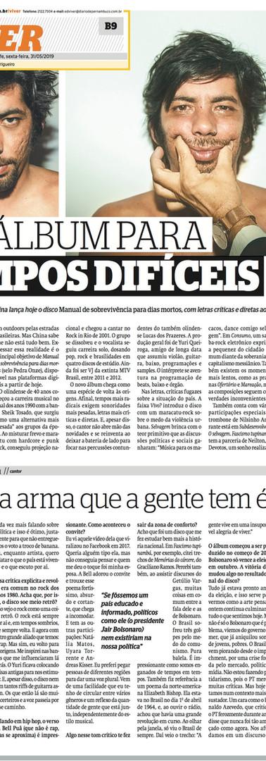 UM ÁLBUM PARA TEMPOS DIFÍCEIS @ Diário de Pernambuco