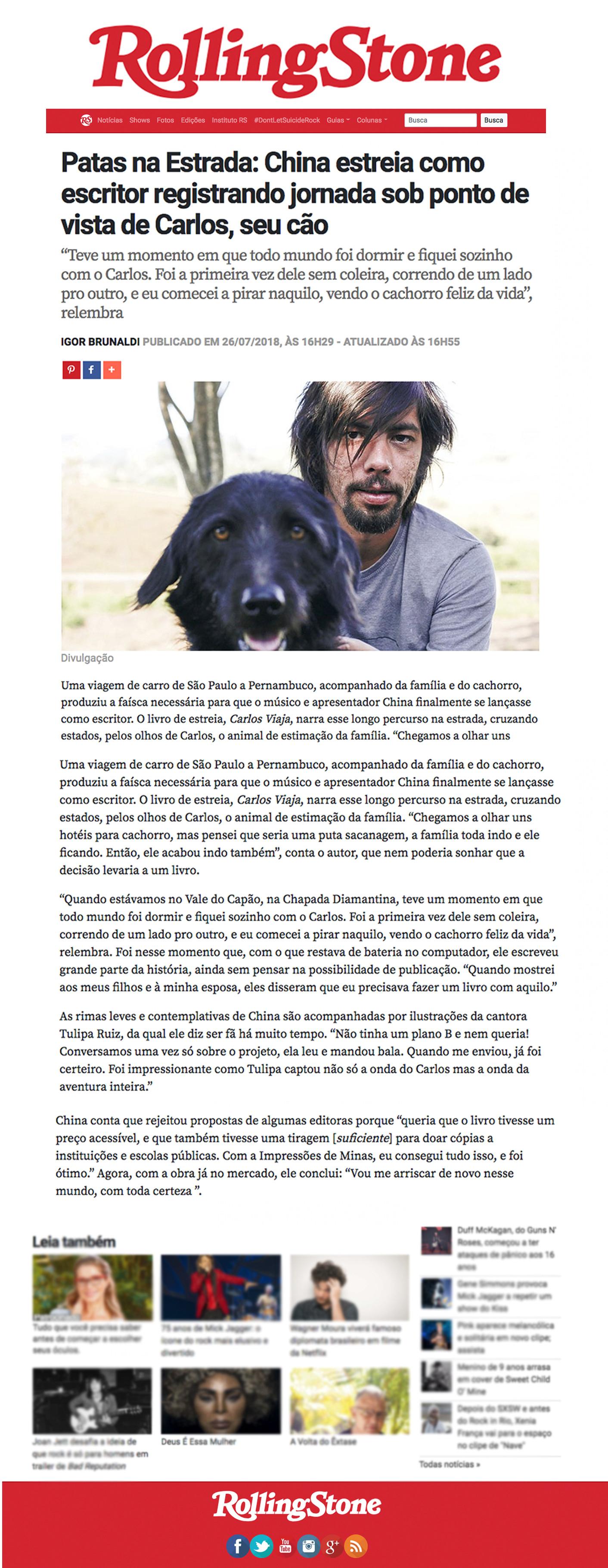 CarlosViaja @ Rolling Stone