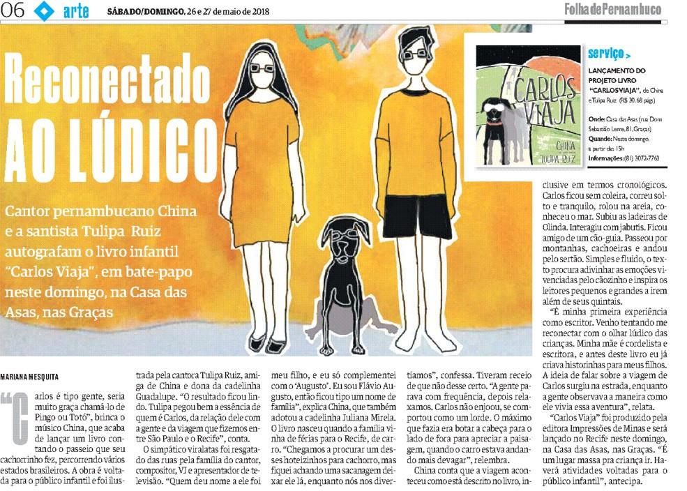 Carlos Viaja @ Folha de Pernambuco