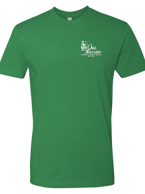 ONE WARRIOR - Distressed Print T-shirt