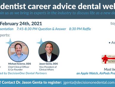 New Dentist Career Advice Dental Webinar