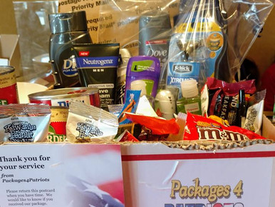 Donation Efforts for Packages4Patriots