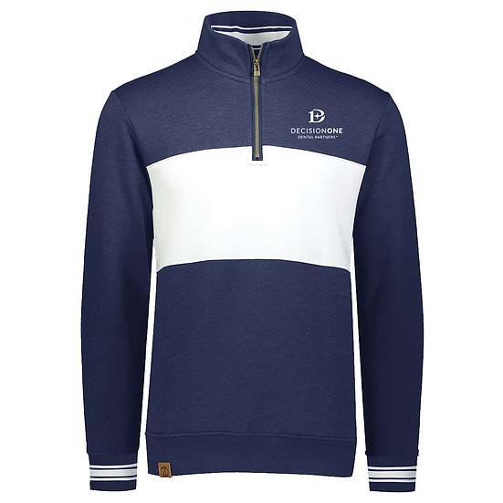 Holloway Ivy League Fleece Colorblocked Quarter-Zip Unisex Sweatshirt