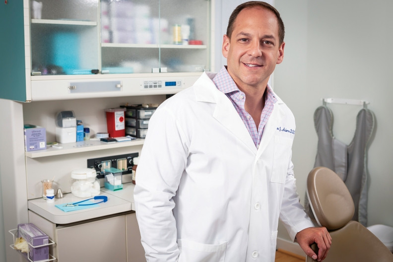 Dr. Alan Acierno is CEO of DecisionOne Dental Partners, a dental service organization that includes 25 offices and some 34 dentists.  Photo by Manuel Martinez.