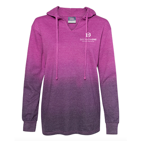 Women's French Terry Ombre Hooded Sweatshirt