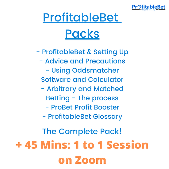 ProfitableBet Pack + 45 minutes  1 to 1 Session With Us