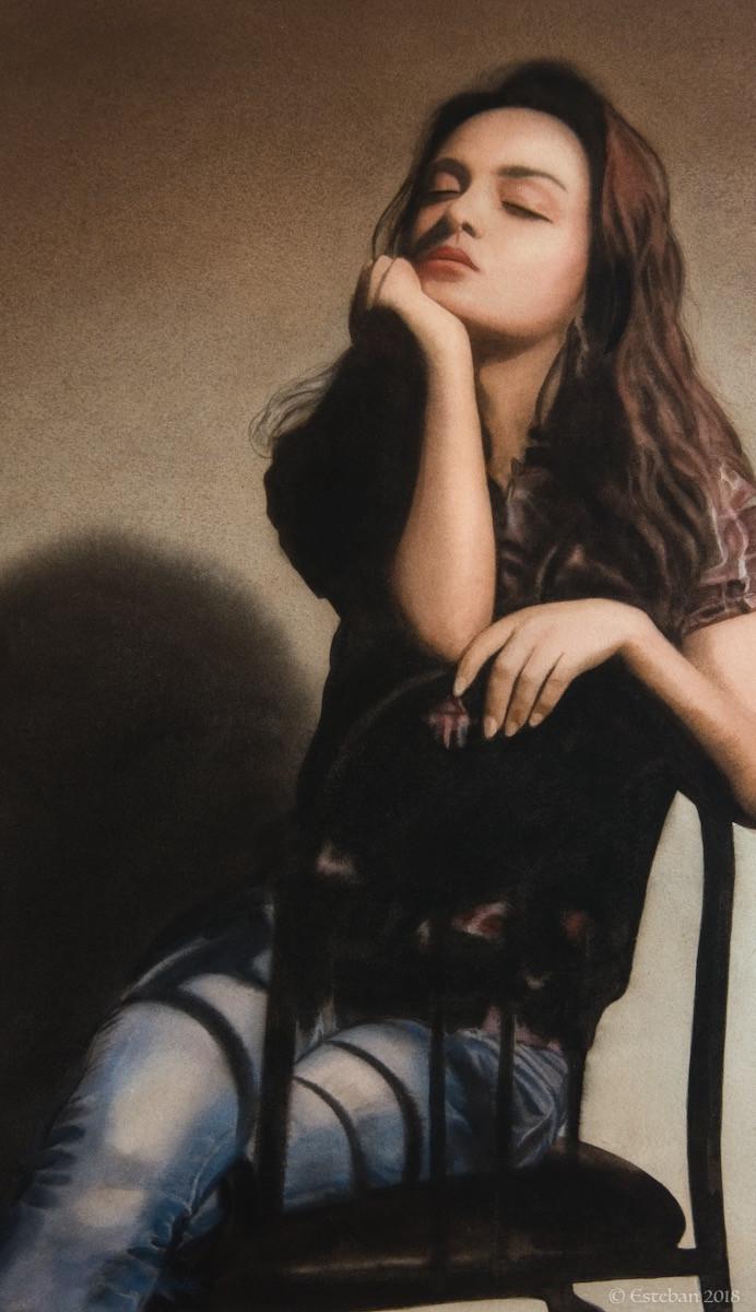 "Aleqsandra ~ Watercolor 12x21"" $1,500."
