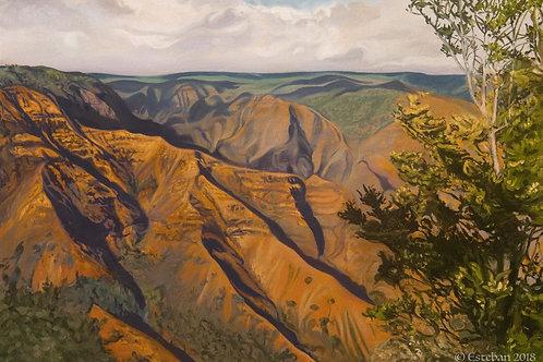"""Waimea Canyon ~ Gicle'e on paper 12 x 17 3/4"""""""