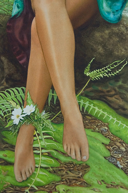 """In the Forest, Kauai ~ Gicle'e on paper 9 x 18"""""""