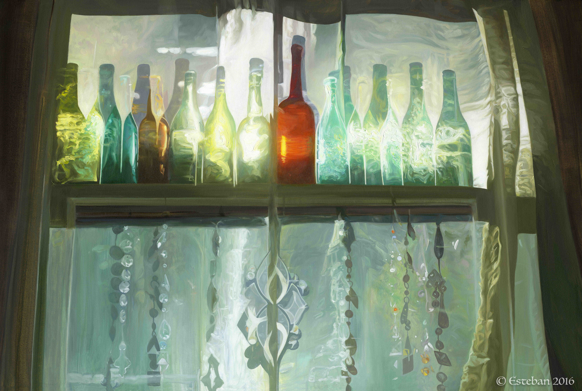 """Light Vessels ~ Oil on Canvas 24x36"""" Sold"""