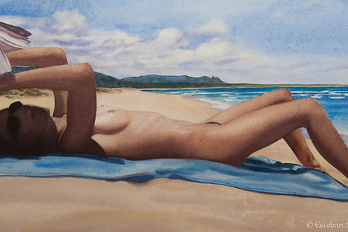 Day at the Beach ~ Kauai. Original watercolor