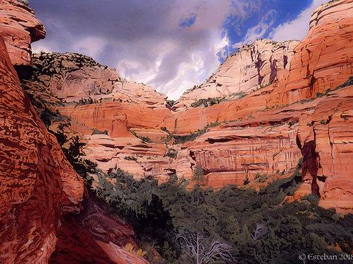 """Fay Canyon, Sedona ~ Gicle'e on paper  12 x 16 5/8"""""""