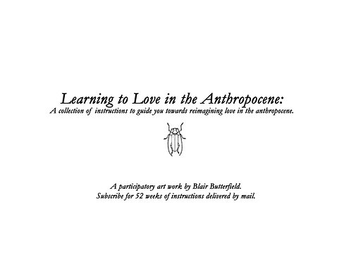 Learning to Love in the Anthropocene Subscription
