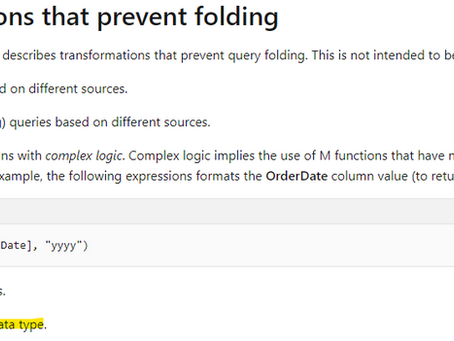 Changing data types that do not break query-folding in Power Query / Power BI
