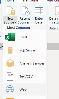 How to avoid having to use a personal gateway for web data sources (html page or table) in Power BI