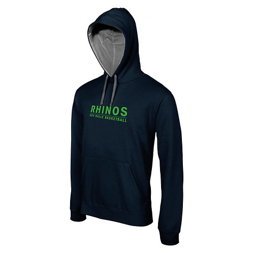 Junior Hoodie Rhinos Basketball black contrast
