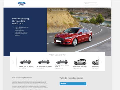 Web Projektledelse: Ford Showroom