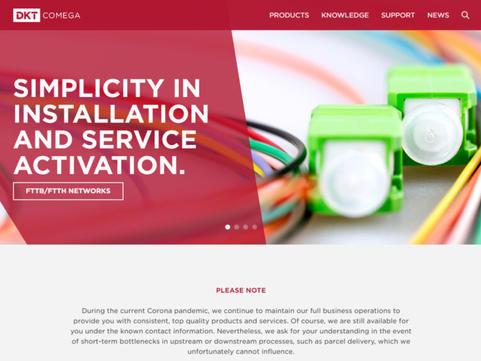 Scoping & Web projektledelse: DKT Comega