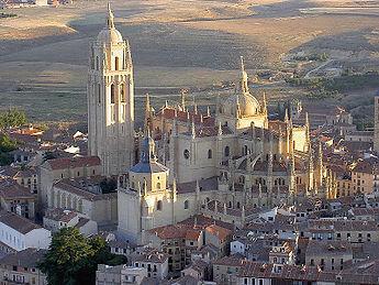 Catedral Segovia vista aérea. Visitas guiadas
