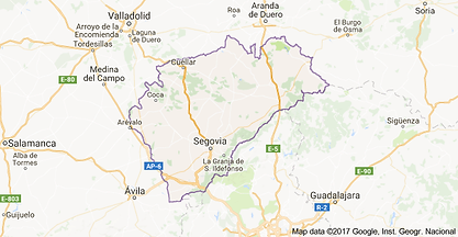 Mapa de la provincia de Segovia - GUIA OFICIAL DE TURISMO