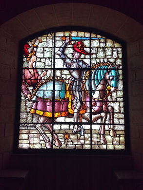 Vidriera de Enrique IV. Guia de turismo en Segovia