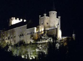 Alcazar de Segovia vista noctur. Visitas guiadas