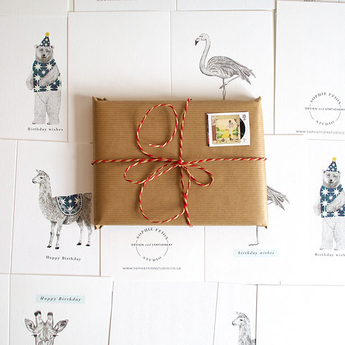 Bundle of 5 cards of your choice