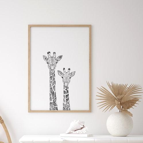 Laughing Giraffe Print