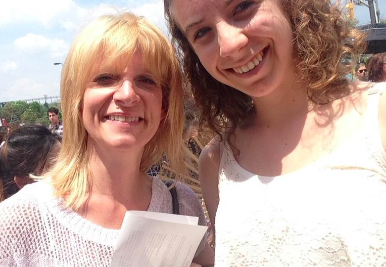 Ann Milne and Adela Bezemer-Cleverley at York University for Adela's convocation in 2016.
