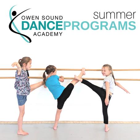 SUMMER DANCE PROGRAMS 2019