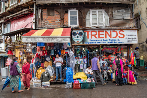 Garment shops, Lower Bazaar, Shimla