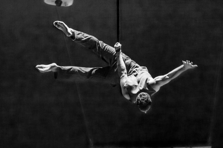 Circus performer, Narbeth, Wales