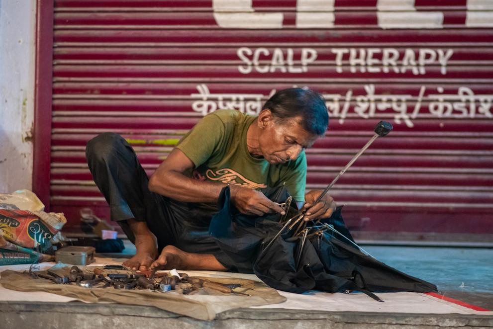 Umbrella repairer, CR Park, New Delhi