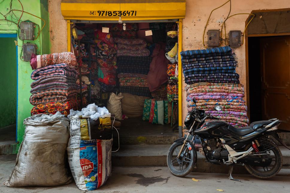 Mattress shop, Khadar, New Delhi