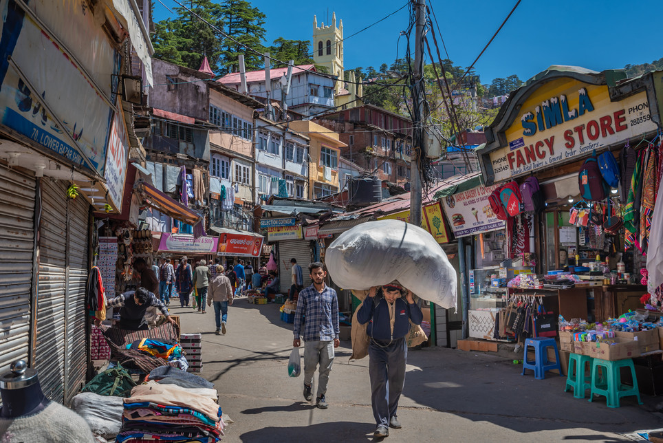 Lower bazaar, Shimla, India