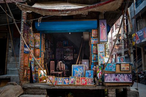Photo-frame shop, JJ Colony, Khadar, New Delhi