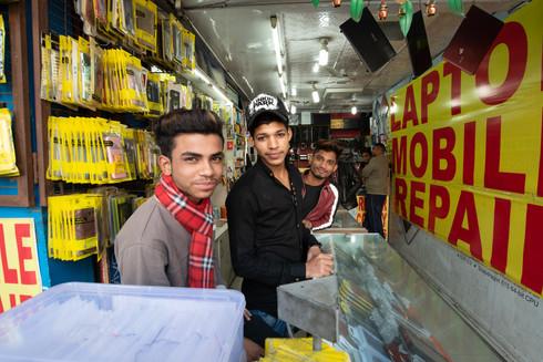 Mobile accessory retailers, Nehru Place, New Delhi
