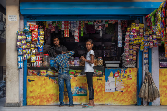 Kirana shopkeeper, JJ Colony, New Delhi
