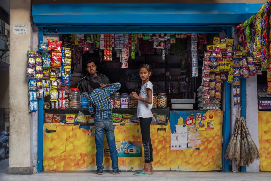 Kirana shop, JJ Colony, Khadar, New Delhi