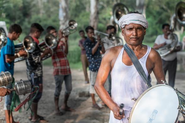 Drummer with shaadi band, Jalandhar