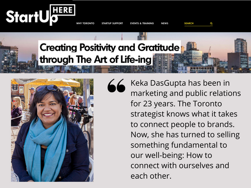 Media Feature: Keka's Art of Life-ing is Profiled in Startup Here Toronto
