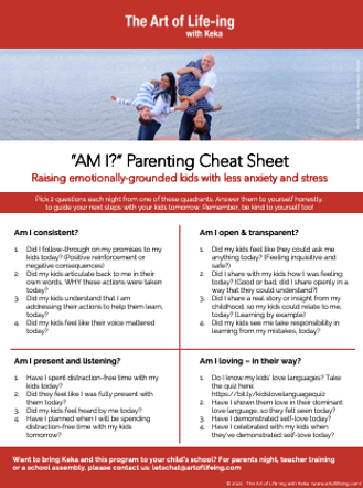 AM I Parenting Questions - Cheat Sheet2.
