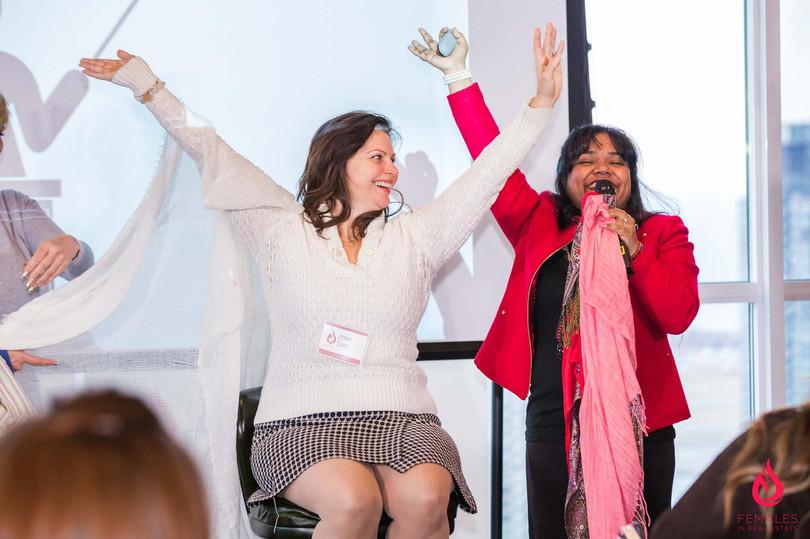 Keka DasGupta speaking to high-powered women in real estate investing.