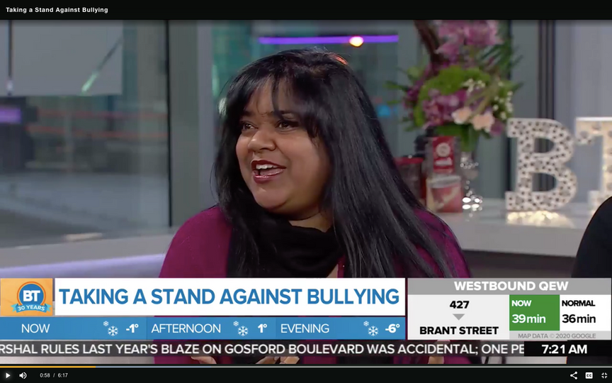 Keka DasGupta is a featured guest on Toronto's #1 morning show, Breakfast Television, discussing anti-bullying strategies for Pink Shirt Day.