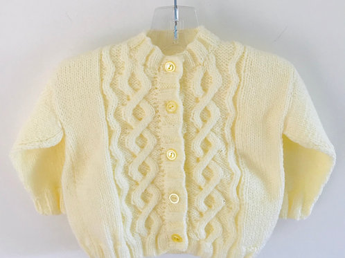 Lemon Cable Knitted Cardigan