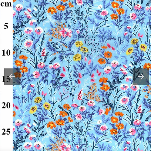 Bright Blue Daisies - Fabric Option for Clothing