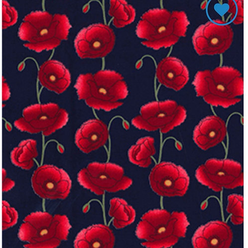 Navy Poppy - Fabric Option for Clothing