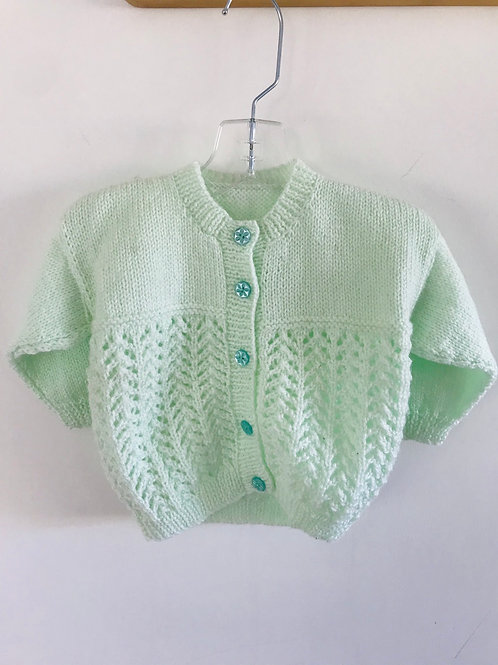 Green Purl Knitted Cardigan