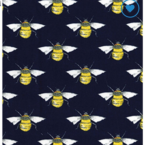 Navy Bees - Fabric Option for Clothing