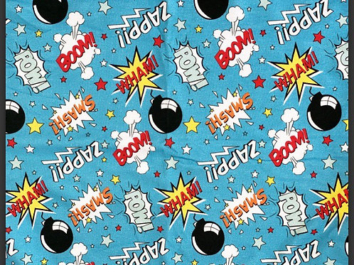 Blue Comic - Fabric Option for Clothing